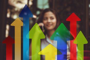 Arrows Trend Businesswoman Woman Economy Business